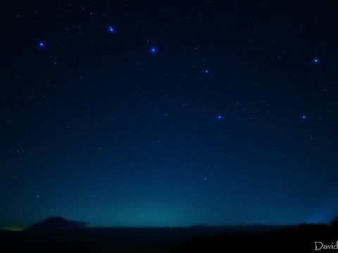 羊蹄山と北斗七星
