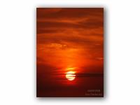 大きな夕陽