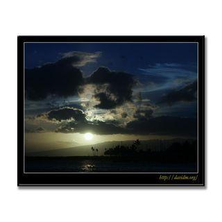 夕暮れのオアフ島