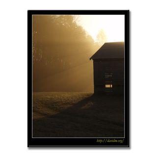 アメリカ合衆国ケンタッキー州 農場の朝