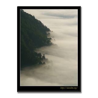 霧で湖面を隠された摩周湖