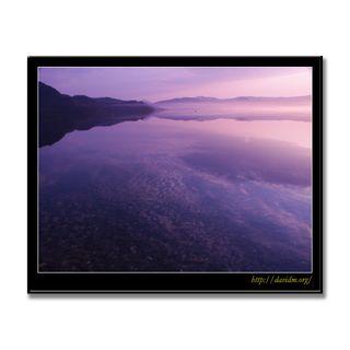 湖面に映る洞爺湖の朝