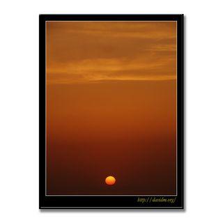 絵鞆の海に落ちる夕陽