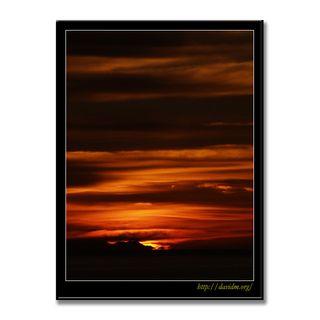 空を染める絵鞆の夕空