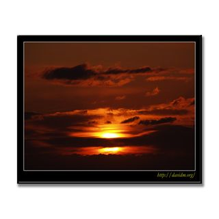 絵鞆の空を燃やす夕陽