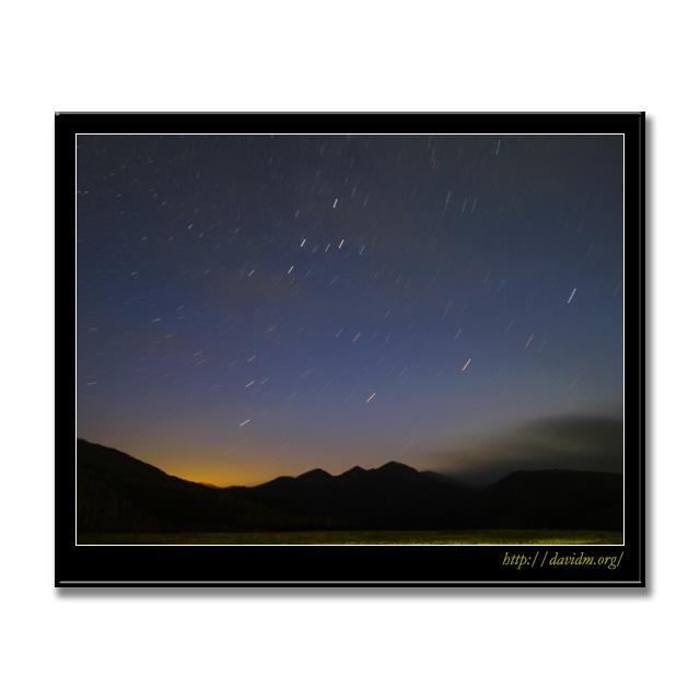 ダンパラから見た室蘭の星空