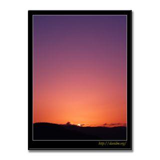 洞爺湖の空をピンクに染める