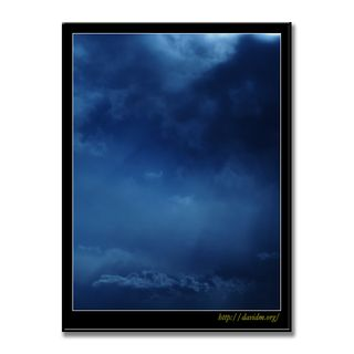 月明かりの雲の風景