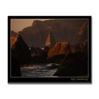 室蘭イタンキの崖と岩場