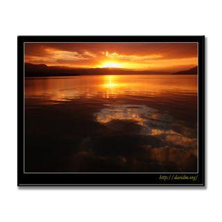 洞爺湖に映る朝の風景