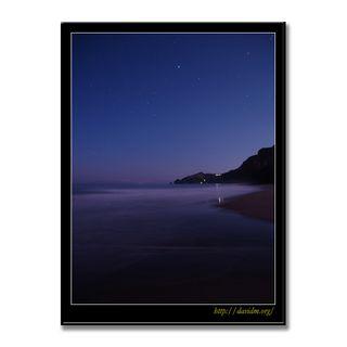 夜明け直前のイタンキの星空
