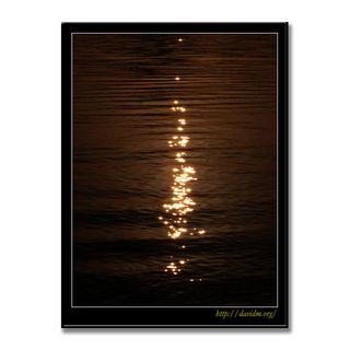 朝陽にきらめく洞爺湖の湖面