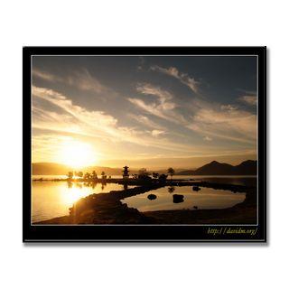 朝の洞爺湖と浮見堂