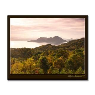 洞爺湖のある穏やかな秋の日