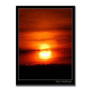 燃えるように昇る朝陽