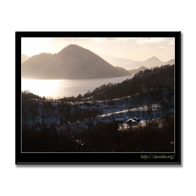 ある朝の洞爺湖の風景の写真