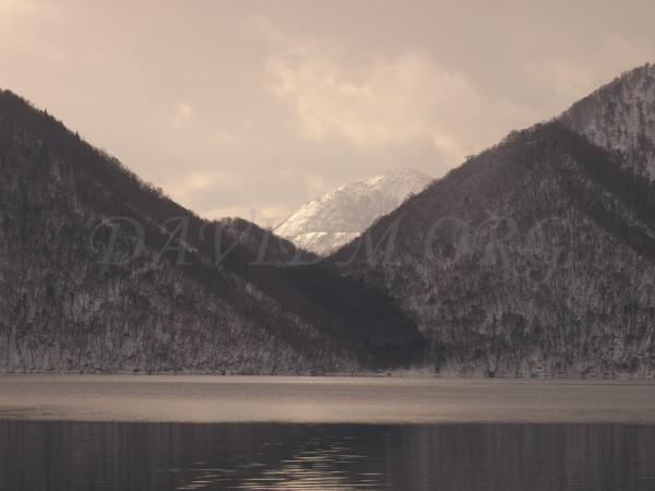 有珠山と中島の写真