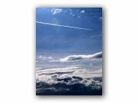 飛行機雲の壁紙
