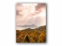 秋の洞爺湖の壁紙