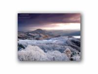 洞爺湖と樹氷の壁紙