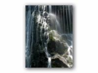 木漏れ日の滝の壁紙