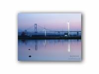 早朝の白鳥大橋