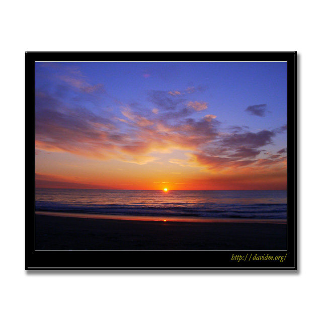 冬のイタンキの朝陽