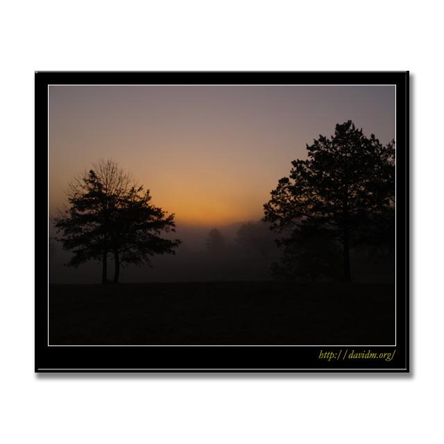 アメリカ合衆国ケンタッキー州 霧の朝