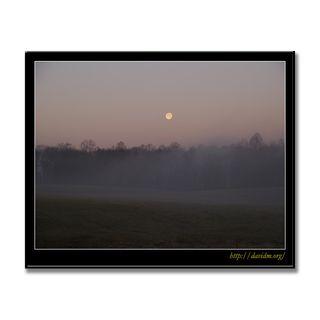 アメリカ合衆国ケンタッキー州 霧と月