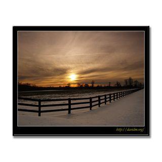 アメリカ合衆国ケンタッキー州 農場の夕陽