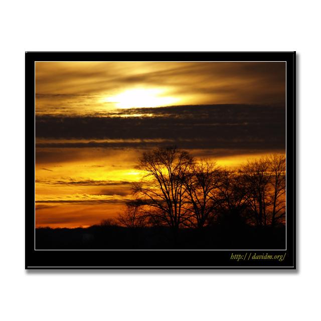 ケンタッキー州 ある日の夕陽