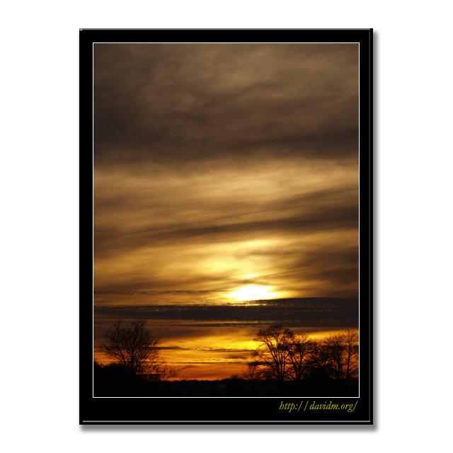 ケンタッキー州 夕陽の空