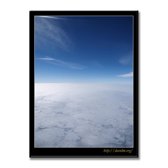 ケンタッキー州 冬の上空