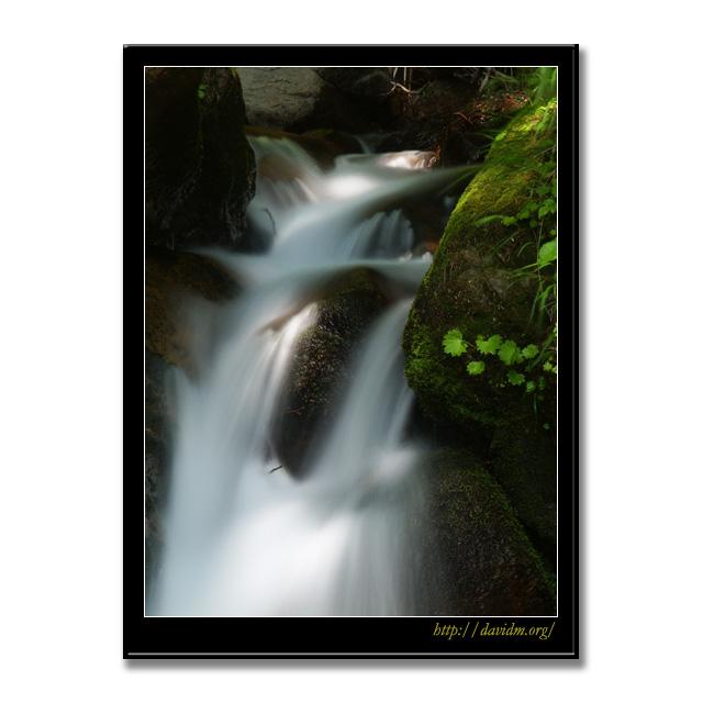 登別市鉱山町 木漏れ日の滝