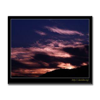 朝陽にたなびく洞爺湖の雲
