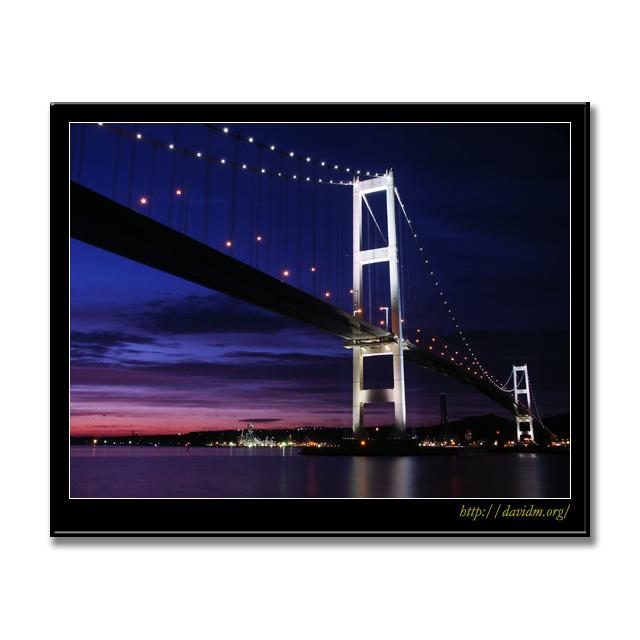 白鳥大橋の夜景