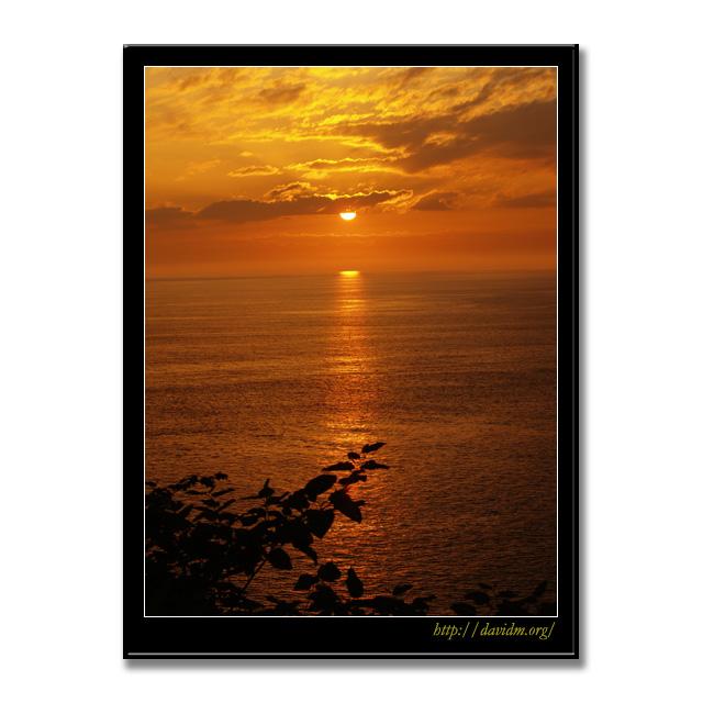 海に映る絵鞆の夕陽