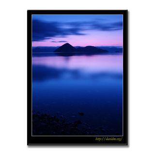 静かな洞爺湖の朝