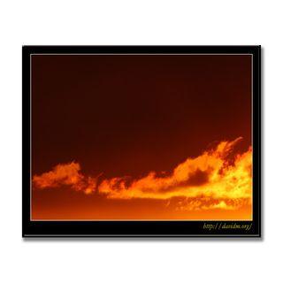 朝陽に輝く雲
