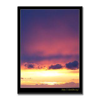 ピンクに染まる室蘭の朝陽