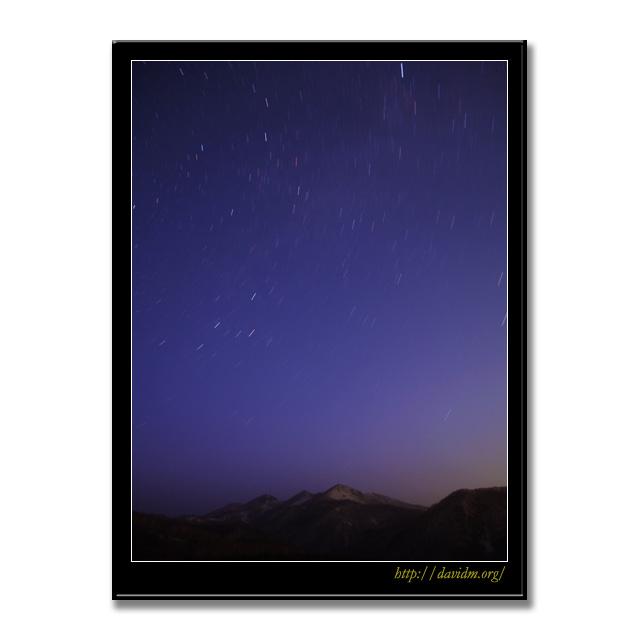 星降る来馬岳の空