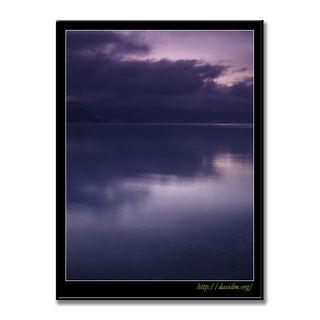洞爺湖の静かな夜明け