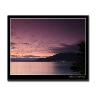 朝を迎える洞爺湖温泉街