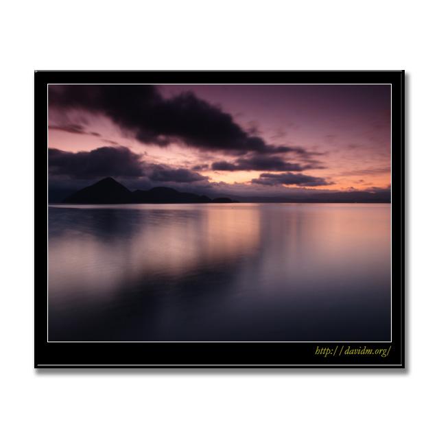 吸い込まれるように流れる洞爺湖の雲