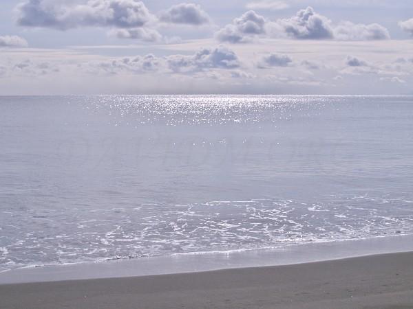 波一つない海の写真