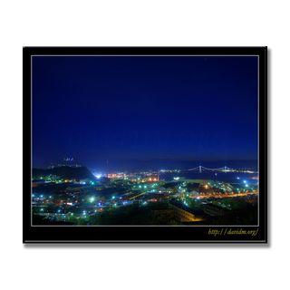 室蘭の夜景の写真