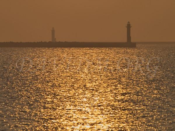 室蘭港の夕暮れの写真