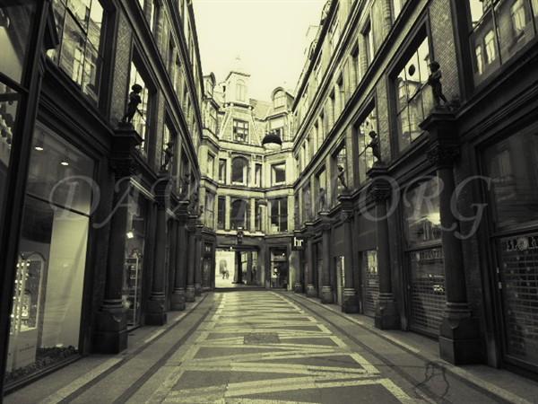コペンハーゲンの路地裏の写真