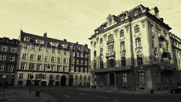 コペンハーゲンの街角