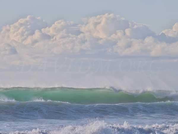 台風による大波の写真
